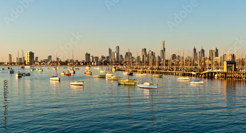 Melbourne skyline from St Kilda, Victoria, Australia