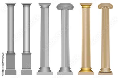 Architecture : colonne de différents styles Fototapete
