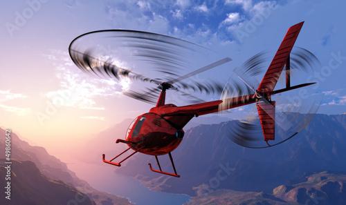 Fotografie, Obraz Civilian helicopter