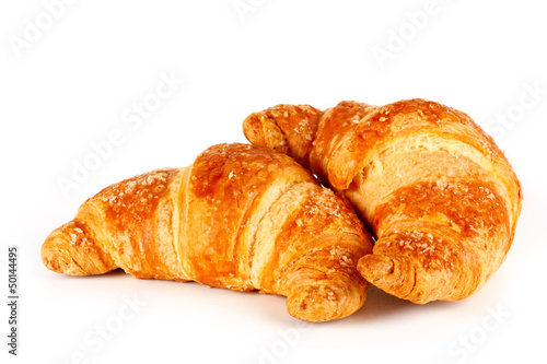 Fotografie, Obraz Croissant su sfondo bianco