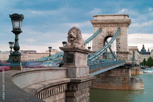 Obraz na plátne Budapest - Chain Bridge