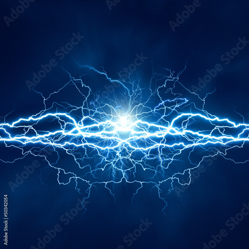 Fotografie, Tablou Electric lighting effect, abstract techno backgrounds for your d