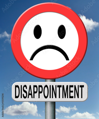 Tablou Canvas disappointment
