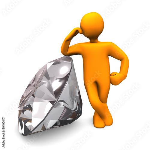 Obraz na plátne Manikin Diamond
