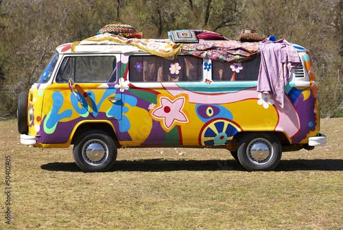 Fotografie, Obraz Hippie van