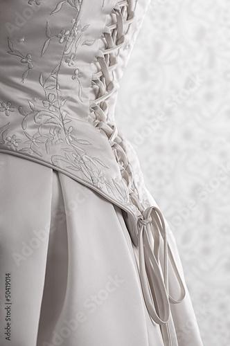 Photo wedding dress back