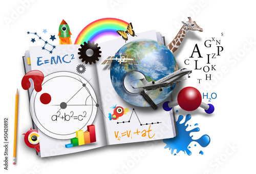 Open Learning Book with Science and Math #50420892