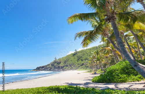 Fotografia plage tropicale de Grande Anse, île de la Réunion