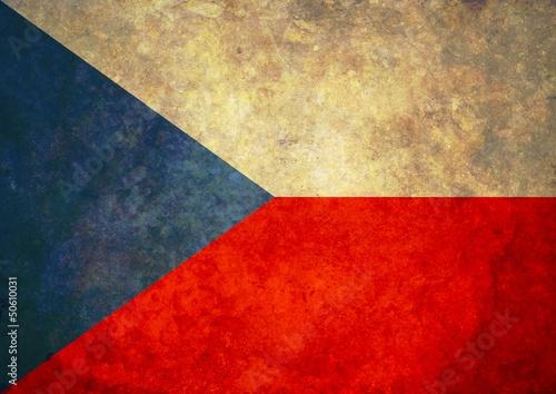 Wallpaper Mural Grunge Czech Flag
