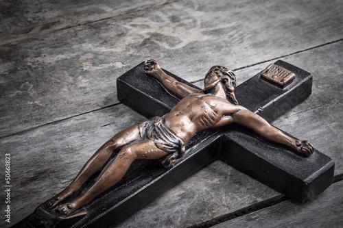 Canvas wooden Crucifix