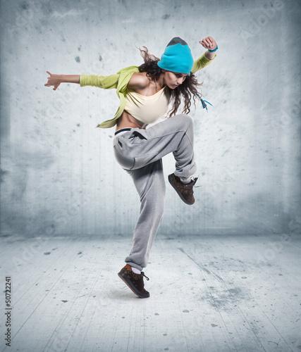 Fotografia young woman hip hop dancer