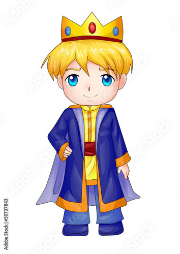 Cute cartoon illustration of a king