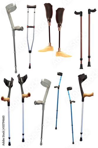 Tableau sur Toile crutches and prosthetic devices