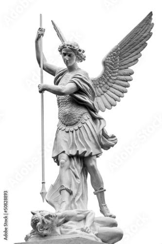 archange Saint-Michel terrassant le Diable Fototapete