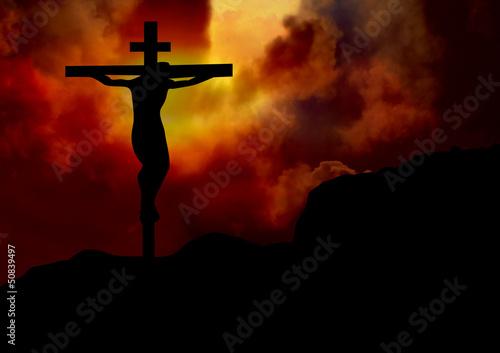 Jesus on the cross #50839497
