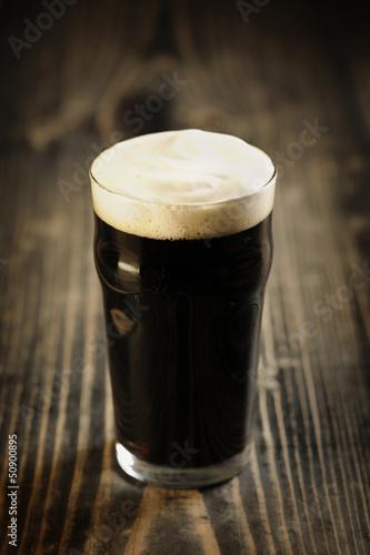 Canvas Print Irish Stout beer