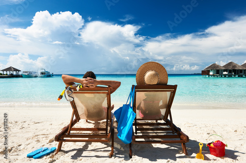Fotografia Couple on a beach
