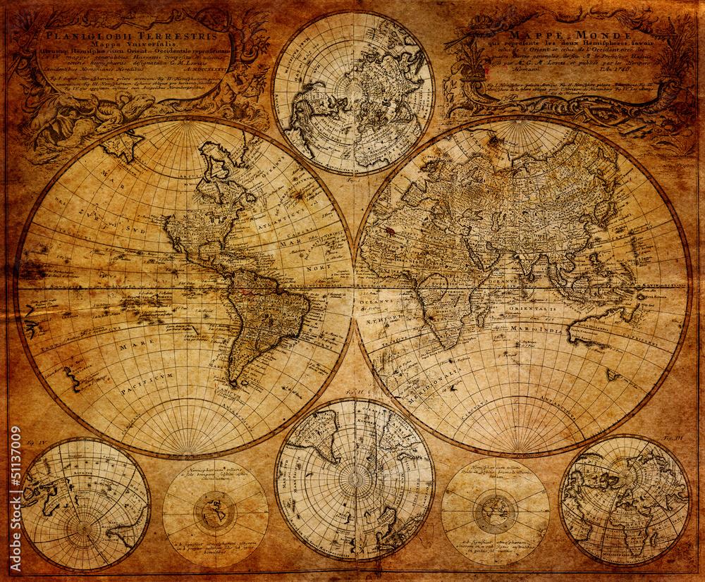Old map(1746) - obrazy, fototapety, plakaty