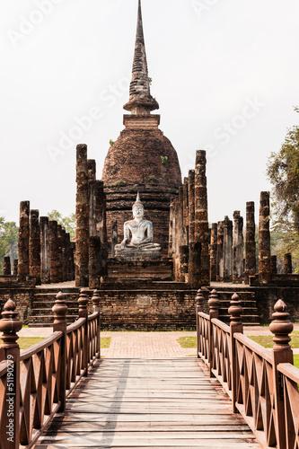 Wat Sa Si, Sukhothai, Thailand Fototapeta