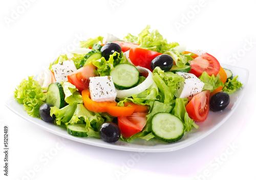Canvas Print Fresh vegetable salad