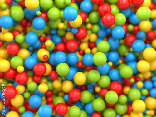 3d mixed color balls background