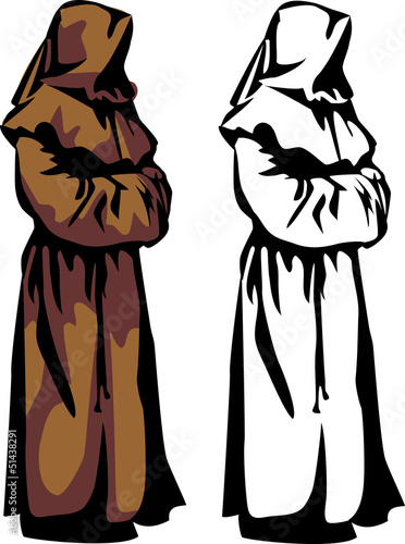 Canvas-taulu christian monk hooded