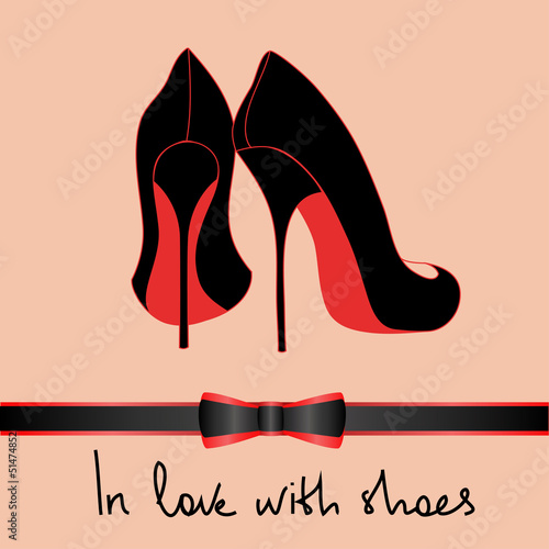 Fotografia, Obraz Background of black pair of shoes