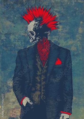 Obraz na plátně punk skeleton
