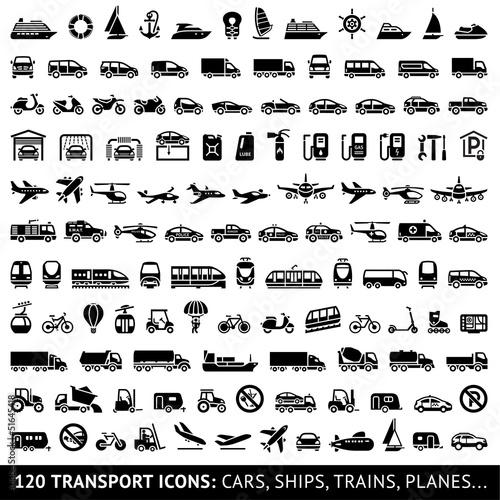 Obraz na płótnie 120 Transport icon
