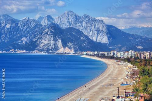 Fototapeta premium Plaża Konyaalti, Antalya