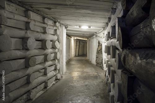 Fototapeta premium Podziemny tunel w Kopalni Soli