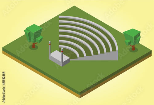 Canvas Print isometric amphitheater