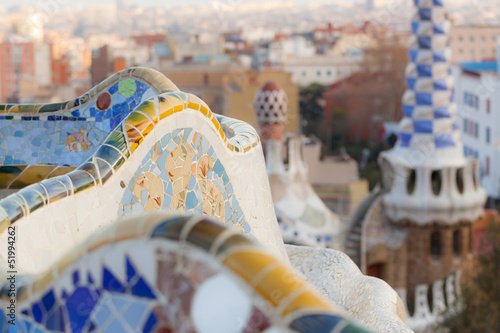 Tablou Canvas Guell Park in Barcelona
