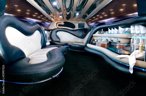 Stampa su Tela Stretchlimousine Innenausstattung Stretch limousine interior