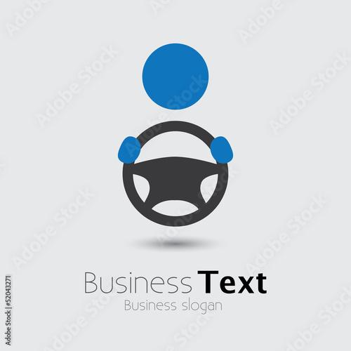 Car, vehicle or automobile driver icon or symbol- vector graphic Tapéta, Fotótapéta