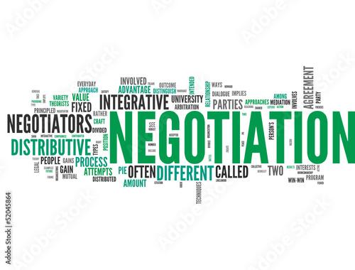 Negotiation (tag cloud) #52045864