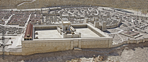 Fototapeta premium Rekonstrukcja Świętej Świątyni w Jerozolimie