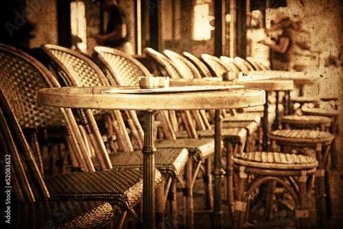 old-fashioned Cafe terrace #52083632