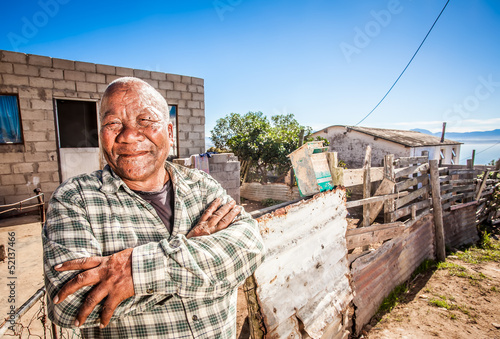 Canvas-taulu proud old man