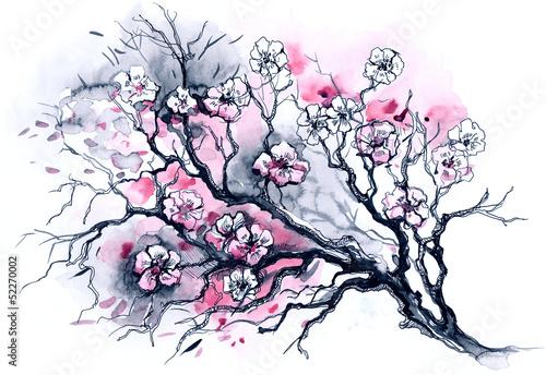 Tablou Canvas cherry tree