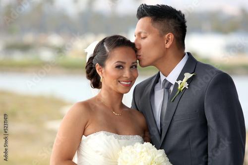 Obraz na plátne Bride and groom
