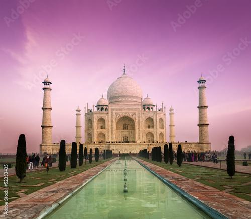 Obraz na płótnie Taj Mahal on sunset, Agra, India