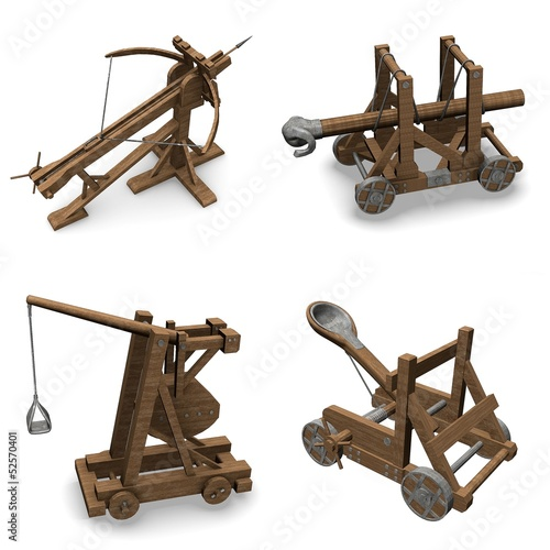 Wallpaper Mural collection of 3d renders - siege weapons