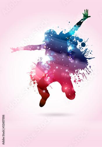 Ballerino, ballerina con macchie di colore #52607006