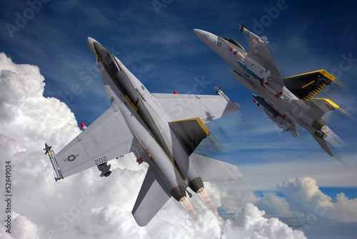Canvas Print jetfighters in the sky