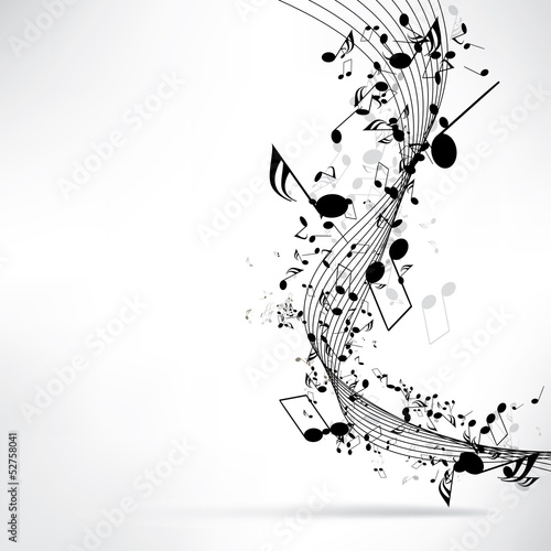 abstract musical background with notes #52758041