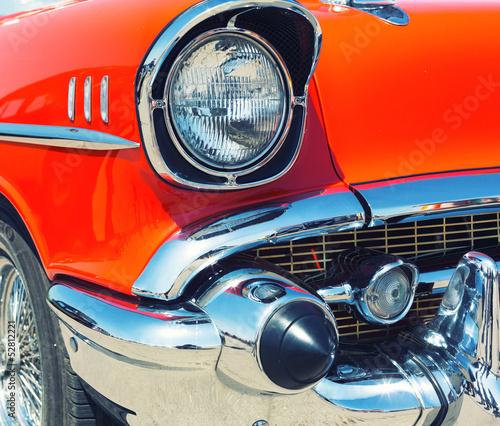 Red retro car #52812221