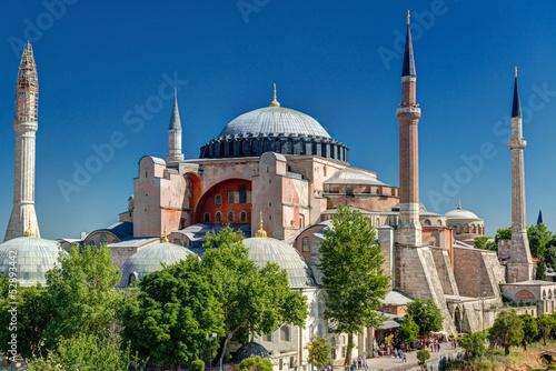Fototapeta Panorama of Hagia Sophia mosque, Istanbul, Turkey