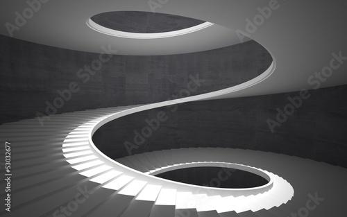 Abstract concrete spiral staircase Tapéta, Fotótapéta