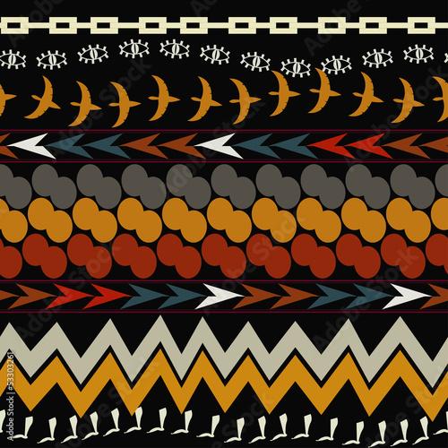 Wallpaper Mural Seamless ethnic pattern. Tribal style